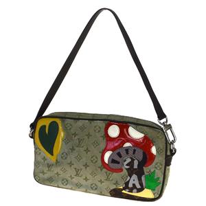ルイ・ヴィトン(Louis Vuitton) モノグラム ミニ コント ドゥ フェ M92274 ショルダーバッグ グリーン