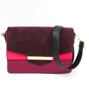 Kate Spade Carmel Kaela PXRU7215 Leather,Suede Shoulder Bag Black,Bordeaux,Pink
