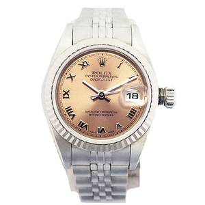 ROLEX Datejust Automatic Stainless Steel White Gold Ladies Watch P-number 79174