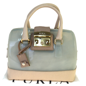 Furla Candy Rubber,Leather Handbag Green