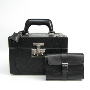 Gucci Gucci Shima With Porch 170591 Jewelry Chest Black Leather