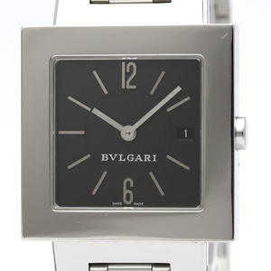 Bvlgari Quadrato Quartz Stainless Steel Men's Dress Watch SQ29SSD