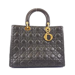 Christian Dior Lady Dior Women's Leather Handbag Black