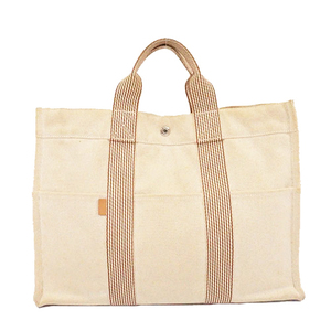 Hremes tote bag New Fourre-Tout MM Toile Ash beige