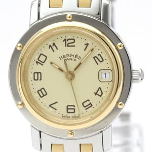 Hermes Clipper Quartz Gold Plated,Stainless Steel Women's Dress Watch CL4.220