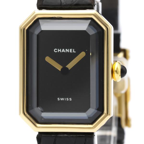 CHANEL Premiere 18K Gold Leather Quartz Ladies Watch H0090