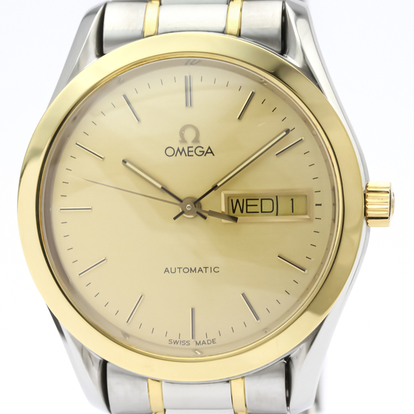 Omega Classic Automatic Stainless Steel,Yellow Gold (18K) Men's Sports Watch 166.0299