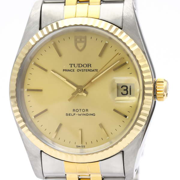 Tudor Prince Oyster Date Automatic Stainless Steel,Yellow Gold (18K) Men's Dress Watch 74033