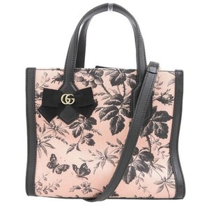 Gucci GG Ribbon Small Herbarium 2way Bag 443089 Leather