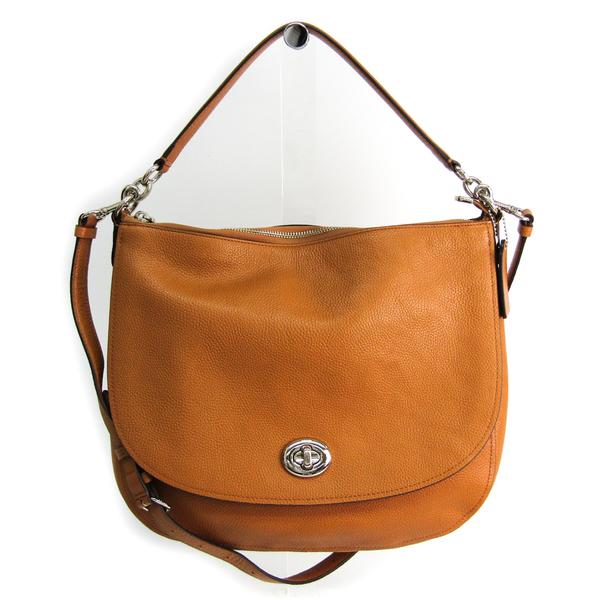 Coach Turn Rock Hobo 24771 Women's Leather Handbag,Shoulder Bag Light Brown