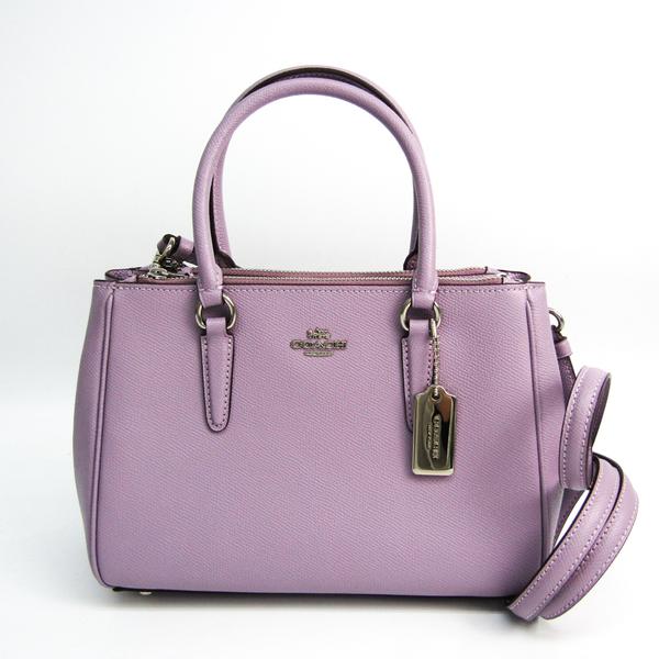 Coach Luxury Cross Grain Leather Mini Sally Carryall F44962 Women's Leather Handbag,Shoulder Bag Light Purple