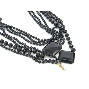 Yves Saint Laurent Plastic Women's Necklace (Black)