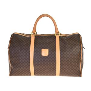 Celine Macadam PVC,Leather Boston Bag Brown