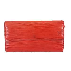 ルイヴィトン 二つ折り長財布 エピ ポシェットポルトモネクレディ M63577