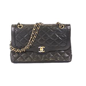 Chanel Matelasse Paris Limited W Flap W Chain Shoulder Bag Paris Limited