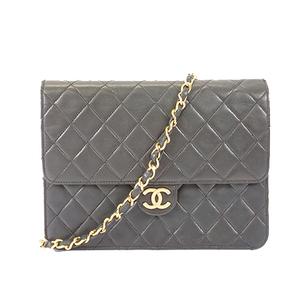 Chanel Matelasse Chain Shoulder Bag Women's Leather Shoulder Bag Black