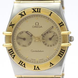 【OMEGA】オメガ コンステレーション デイデイト K18 ゴールド ステンレススチール クォーツ メンズ 時計 396.1069