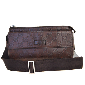 Gucci Shima GG Pattern Leather Fanny Pack Brown