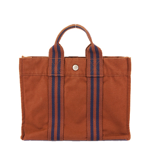 Hermes Fourre Tout Women's Canvas Tote Bag Brown
