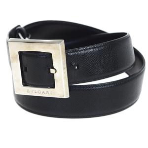 Bvlgari Classico Leather Belt Black