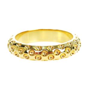Hermes Metal Scarf Ring Gold