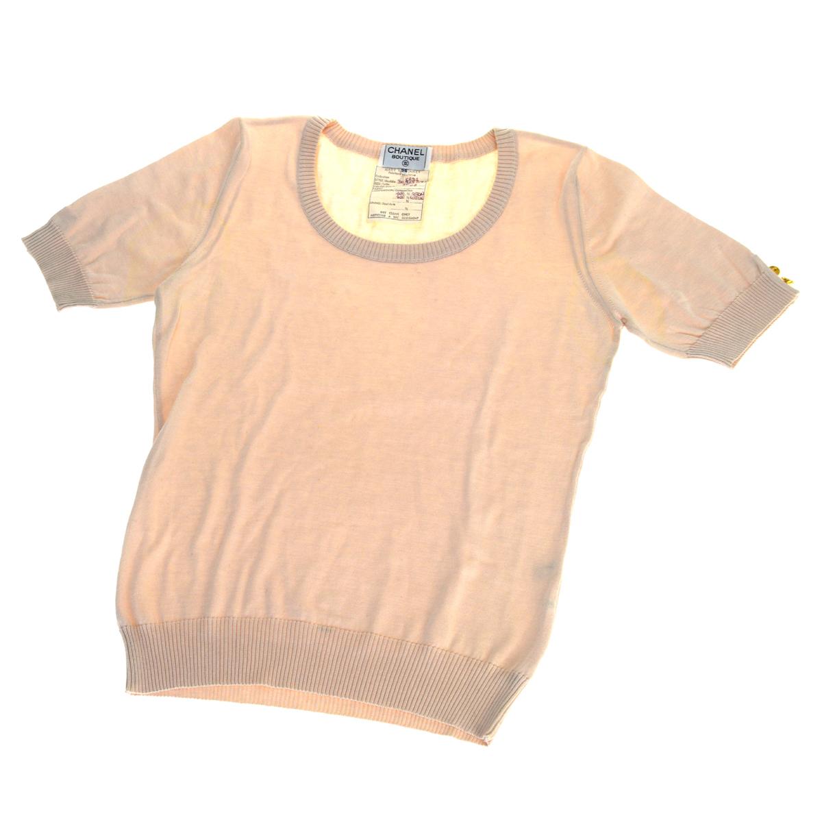 シャネル(Chanel) レディース カットソー 36 (ピンク)