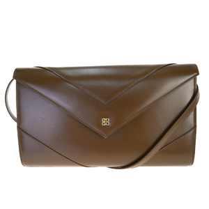 Givenchy 2WAY Leather Shoulder Bag Brown