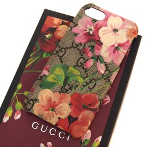 Gucci PVC Flowers Phone Case Brown GG pattern