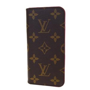 Louis Vuitton Monogram PVC Phone Flip Case For IPhone 8 Rose iPhone8 Folio M61906