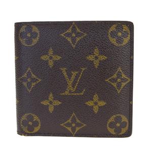 Louis Vuitton Monogram Portfoil Marco M61675 PVC,Leather Wallet (bi-fold) Brown