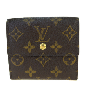 Louis Vuitton Monogram Portumone Bier Cult Credit M61652 PVC,Leather Wallet (tri-fold) Brown