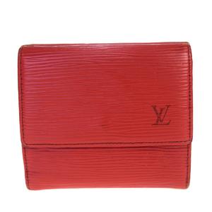 Louis Vuitton Epi Portumone Vie Cult Credit M63487 Leather Wallet (tri-fold) Castilian Red