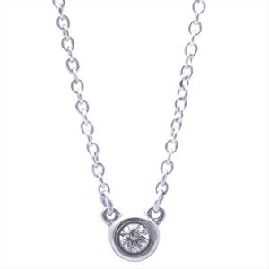 ティファニー(Tiffany) ダイヤモンド バイ ザ ヤード シルバー925 ダイヤモンド レディース カジュアル ネックレスチェーン カラット/0.05 (シルバー)