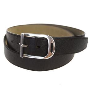 Hermes Atelier Men's Leather Belt Plain Brown 100