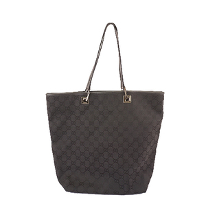 Auth Gucci GG Canvas Tote Bag 31243 Women's Handbag,Tote Bag Black