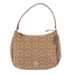 Auth Coach Signature ShoulderBag F29959 Women's Canvas Shoulder Bag Beige
