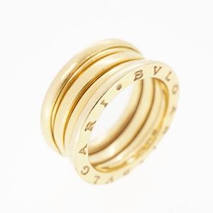 ブルガリ リング ビーゼロワン B-zero1 2バンドリング k18YG イエローゴールド 指輪