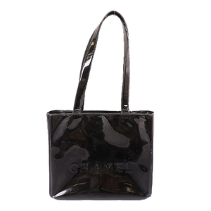 Auth Chanel Women's Patent Leather Shoulder Bag,Tote Bag