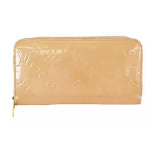 Auth Louis Vuitton Vernis Zippy Wallets M91530 Vernis Long Wallet (bi-fold) Rose Florentin