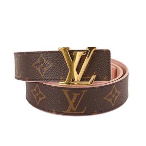 Auth Louis Vuitton Monogram Saint-Turin Initial Reversible M9052 Belt