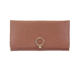 Auth Bvlgari Bifold Long Wallet Bvlgari Bvlgari Women,Men,Unisex Leather Brown