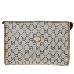 Gucci GG Plus PVC Clutch Bag Brown