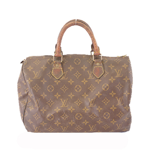 Auth Louis Vuitton Monogram M41108 Speedy30 Boston Bag,Handbag