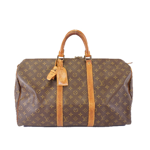 Auth Louis Vuitton Monogram Keepall50 M41426 Men,Women,Unisex Boston Bag