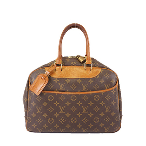 Auth Louis Vuitton Handbag Monogram Deauville M47270