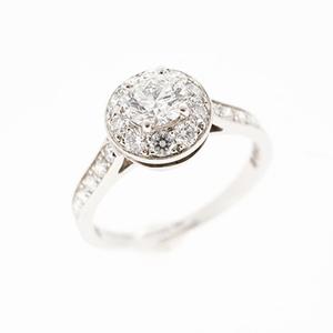 ヴァンクリーフ&アーペル リング イコーヌ icone ソリティア Pt950 プラチナ ダイヤモンド 0.31ct 指輪
