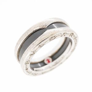 ブルガリ リング B-zero1 ビーゼロワン セーブザチルドレン 1バンドリング シルバー925 セラミック 指輪