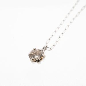 ネックレス ダイヤネックレス 一粒ダイヤ K18WG ホワイトゴールド 天然ダイヤモンド 0.100ct