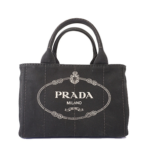 Auth Prada Canapa Handbag Women's Canvas Handbag,Tote Bag Black