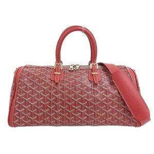 Goyard GO YARD Goyar PVC leather Croix Jules 35 2way Boston bag red